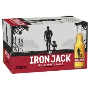 iron jack full strength lager 24x330ml bottles by ice box liquor