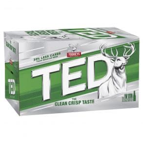 tooheys ted 24 x 345ml bottles by ice box liquor